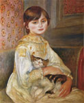 Renoir, Pierre Auguste Child with Cat, 1887 Art Reproductions