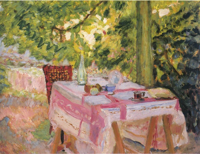 Table in the Garden, 1908  Painting Reproductions