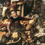 Aertsen, Pieter Market Woman with Vegetable Stall, 1567 Art Reproductions