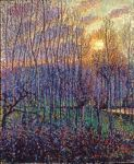 Poplars, Sunset at Eragny, 1894 Art Reproductions