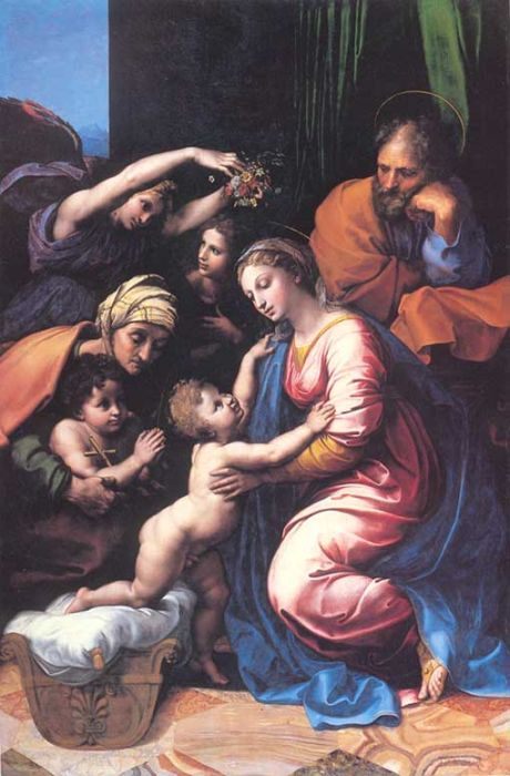 The Great Holy Family of Francois I, 1518  Painting Reproductions