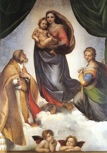 The Sistine Madonna, 1513  Painting Reproductions