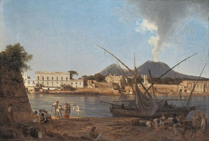 The Mole at Portici, 1818  Painting Reproductions