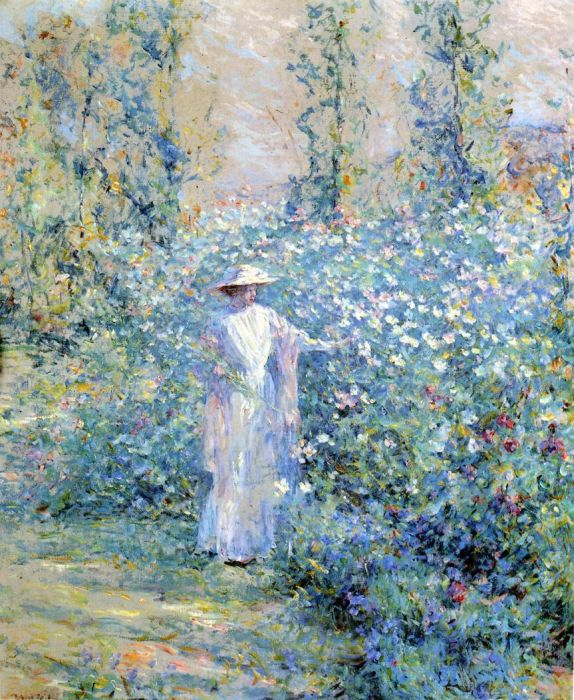 In the Flower Garden, 1900  Painting Reproductions