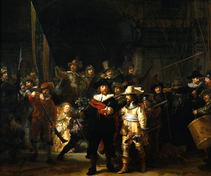 'The Company of Frans Banning Cocq and Willem van Ruytenburch', known as the 'Nightwatch' Rembrandt, Harmensz van Rijn Painting Reproductions