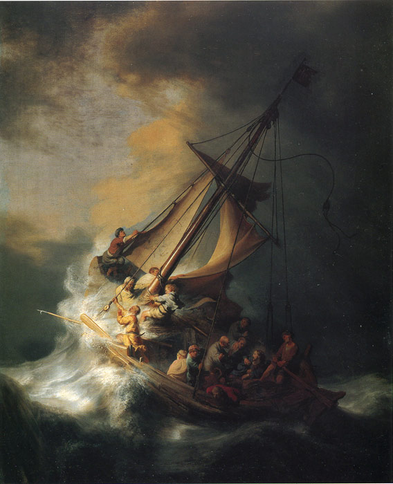 Christ in the Storm on the Lake of Galilee, 1863  Painting Reproductions