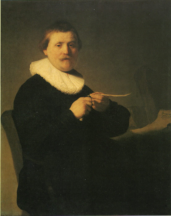 A Man Sharpening a Quill, 1632  Painting Reproductions