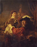 6935 Rembrandt and Saskia, 1635 Art Reproductions