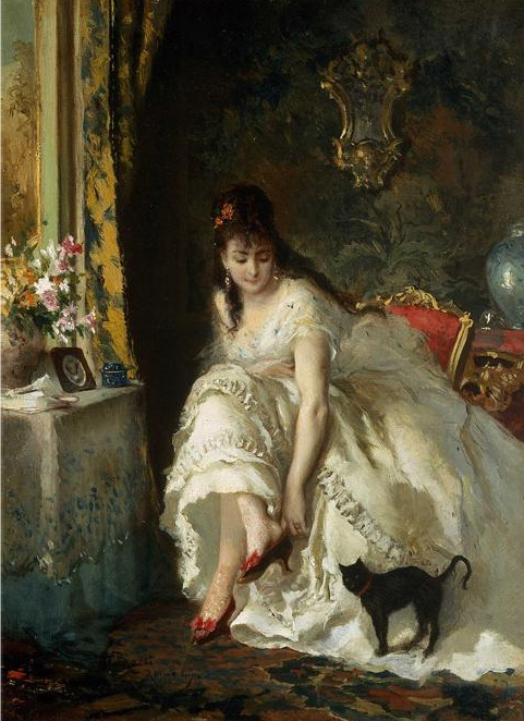 In the boudoir, 1869  Painting Reproductions