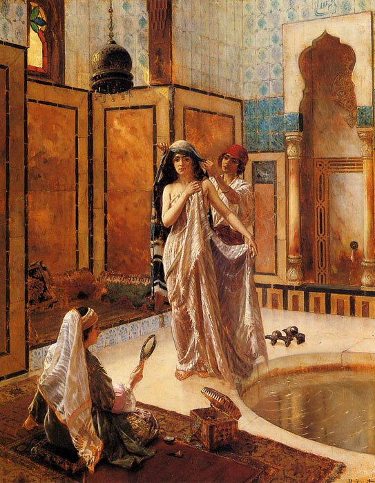 The Harem Bath  Painting Reproductions
