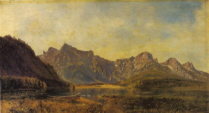 Der Almsee  Painting Reproductions