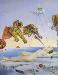 1942 Dream Caused by the flight of a Bee around a Pomegranate Art Reproductions