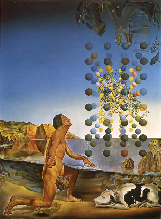 Dali Nude Contemplating before the Five Regular Bodies 1954 Dali, Salvador Painting Reproductions