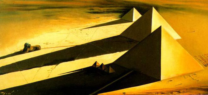 The Pyramids and the Sphinx of Gizeh, 1954  Painting Reproductions