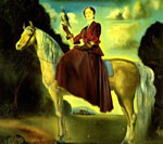 Dali, Salvador Equestrian Fantasy - Portrait of Lady Dunn, 1954 Art Reproductions