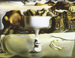 Dali, Salvador Apparition of Face and Fruit Dish on a Beach Art Reproductions