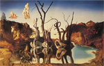 Dali, Salvador Swans Reflecting Elephants Art Reproductions
