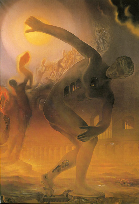 Salvador Dali Painting With The Art Gallery And The Portraitt