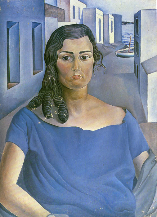 Portrait of a Girl in a Landscape, 1924  Painting Reproductions