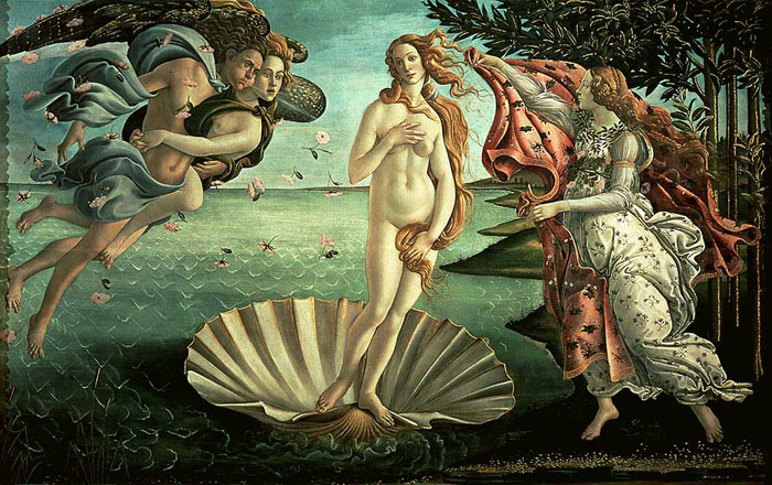 The Birth of Venus, 1485 Botticelli, Sandro Painting Reproductions