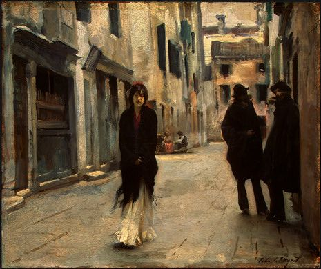 A street in Venice, 1882  Painting Reproductions