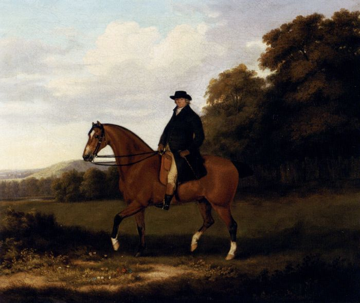 A Gentleman And His Bay Hack, 1788  Painting Reproductions