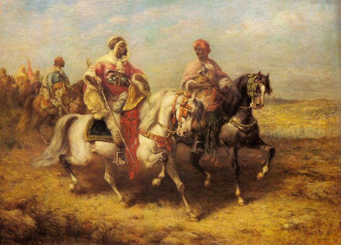 Arab Chieftain and his Entourage  Painting Reproductions