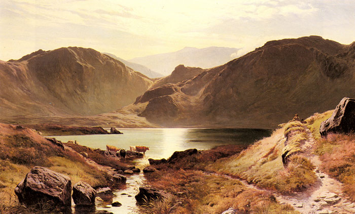 Easdale Tarn, Westmoreland, 1871  Painting Reproductions