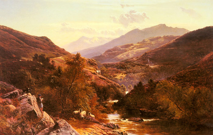 Glen Falock, Dunbartonshire, 1867  Painting Reproductions