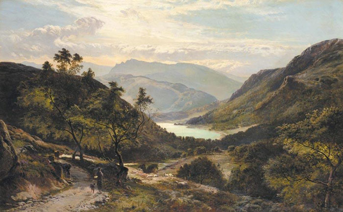 The Path Down to the Lake, North Wales, 1878  Painting Reproductions