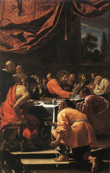 The Last Supper, 1615-20 Vouet, Simon Painting Reproductions