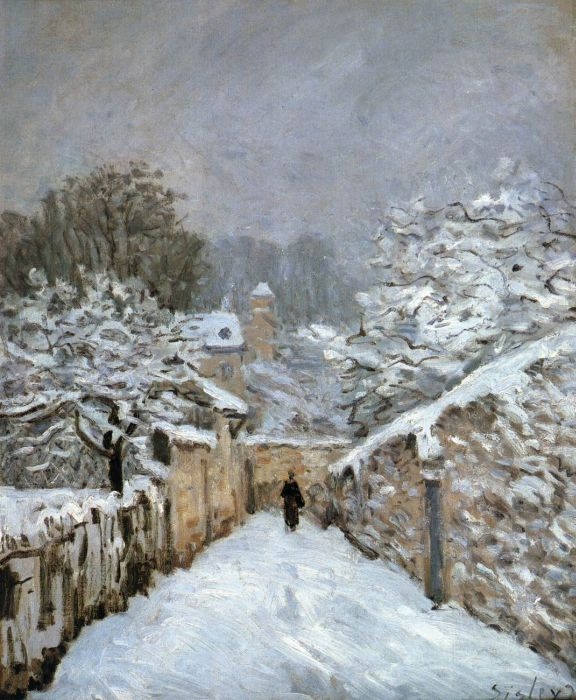 The Snow at Louveciennes, 1878  Painting Reproductions