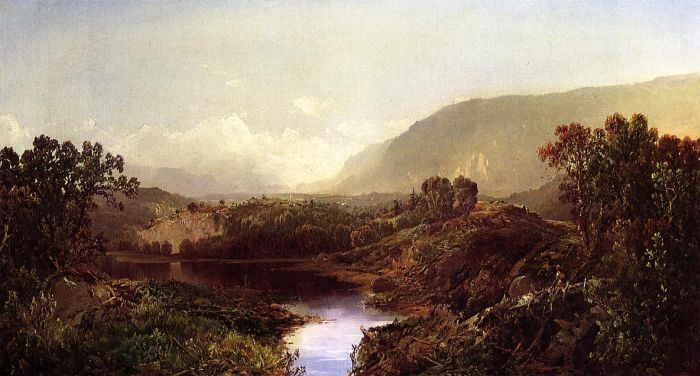 Mountain Landscape, New York State , 1869  Painting Reproductions