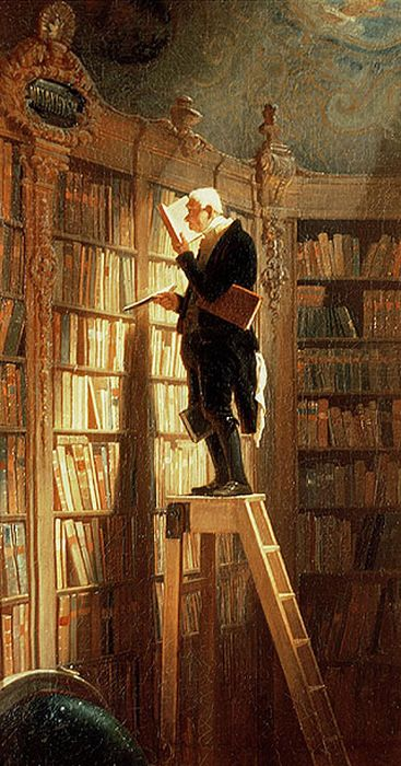 The Book Worm, 1850  Painting Reproductions