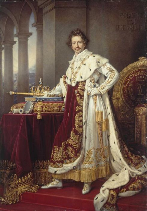 King Ludwig I in his Coronation Robes, 1826  Painting Reproductions