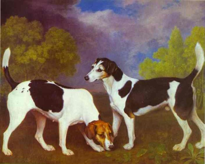 Hound and Bitch in a Landscape, 1972  Painting Reproductions