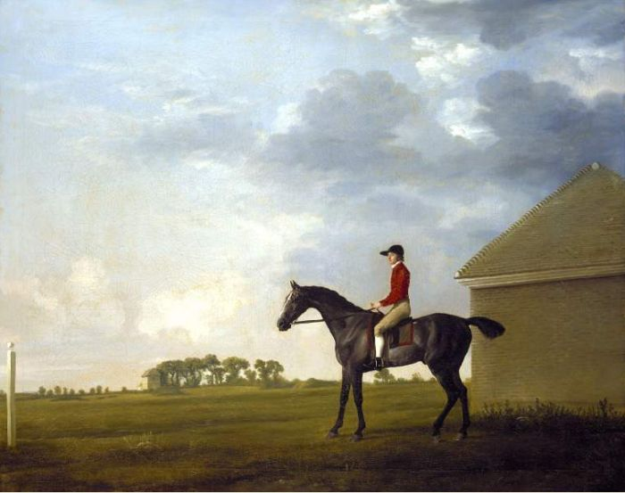 Gimcrack with John Pratt up on Newmarket Heath,1765  Painting Reproductions