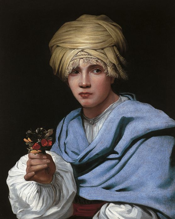 Boy in a Turban Holding a Nosegay, 1655  Painting Reproductions