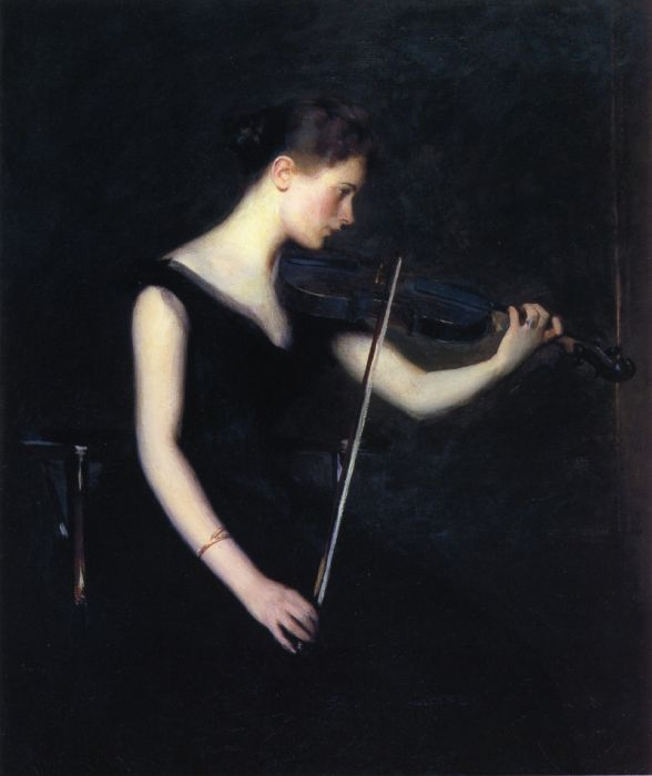 Girl with Violin, 1890  Painting Reproductions