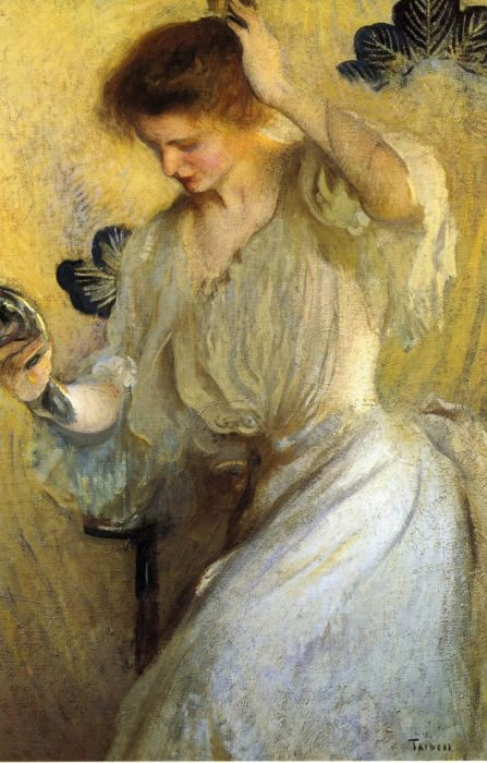 Girl with a Mirror, 1900  Painting Reproductions