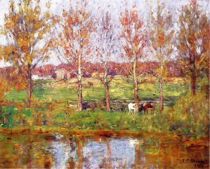 Cows by the Stream, 1895  Painting Reproductions