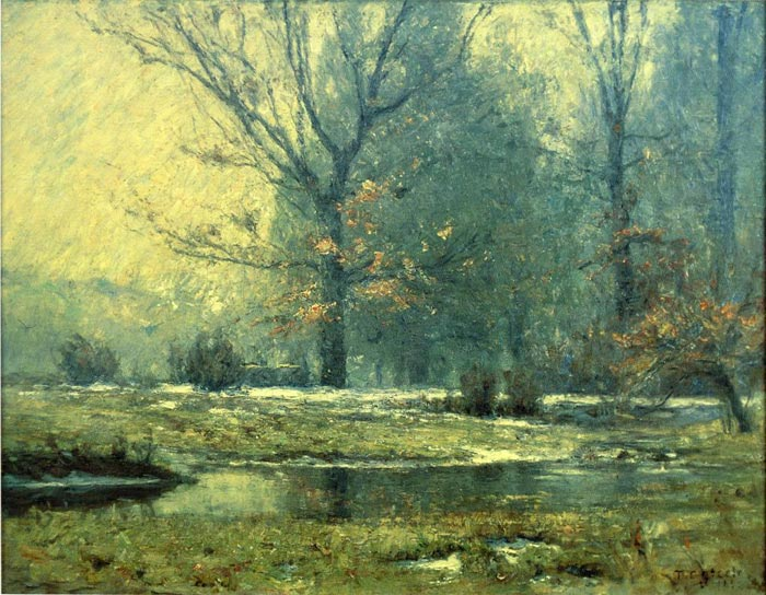 Creek in Winter, 1899  Painting Reproductions