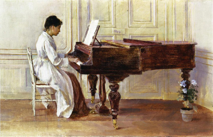At the Piano, 1887  Painting Reproductions