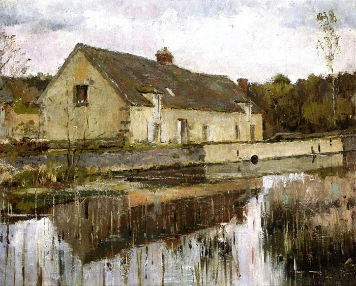 On the Canal Robinson, Theodore Painting Reproductions