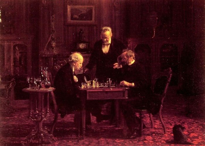 The Chess Players, 1876  Painting Reproductions
