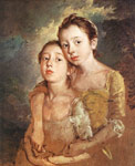 Gainsborough, Thomas The Artist's Daughters with a Cat, 1759-1761 Art Reproductions