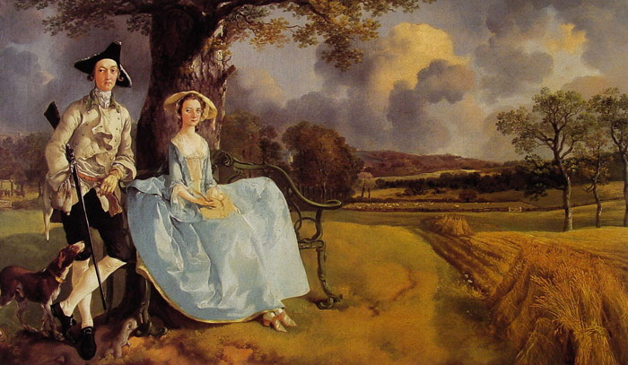 Mr and Mrs Andrews, 1748-1749  Painting Reproductions