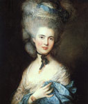 Gainsborough, Thomas Portrait of a Lady in Blue, 1777-1779 Art Reproductions