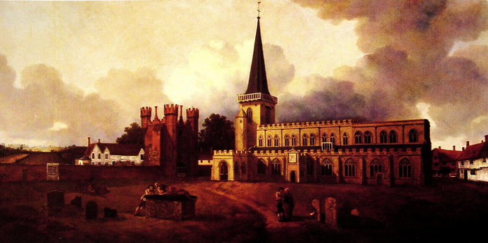 St. Mary's Church, Hadleigh, c.1748-1750  Painting Reproductions