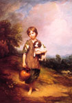 Gainsborough, Thomas Cottage Girl with Dog and Pitcher, 1785 Art Reproductions